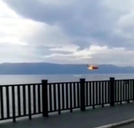云南大理一森林灭火直升机失事坠入洱海